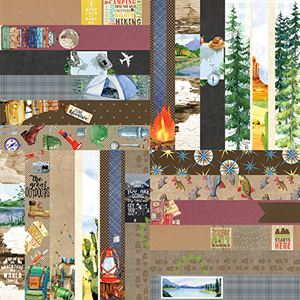 """Picture of The Great Outdoors by Lauren Hinds 2"""" Border Strips - Set 12"""